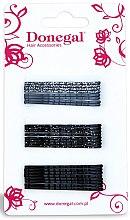 Voňavky, Parfémy, kozmetika Vlasové sponky FA-5504, čierne a šedé - Donegal