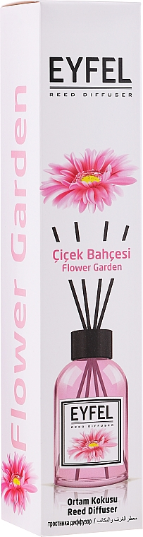 "Aromatický difúzor ""Kvetinová záhrada"" - Eyfel Perfume Reed Diffuser Flower Garden"