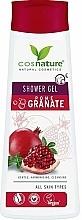 "Voňavky, Parfémy, kozmetika Ošetrovací sprchový gél ""Granátové jablko"" - Cosnature Shower Gel Pomegranate"