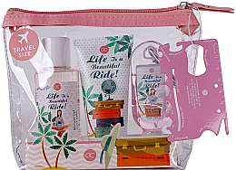 Voňavky, Parfémy, kozmetika Sada - Accentra Spring Time Body Care Travel Set (Sh/gel/100ml + h/cr/60ml + Cl/gel/30ml + bag)