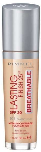 Make-up - Rimmel Lasting Finish 25HR Breathable Foundation SPF 20