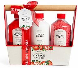 Voňavky, Parfémy, kozmetika Sada - IDC Institute Vintage Fruits (sh/g/260ml + b/lot/260ml + salt/260g)