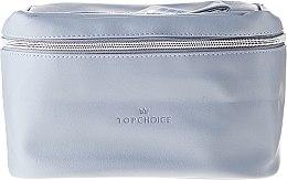 """Voňavky, Parfémy, kozmetika Kozmetická taška """"Leather"""", 24x14x13,5 cm, 96990, šedá - Top Choice"""