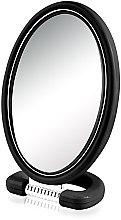 Voňavky, Parfémy, kozmetika Zrkadlo kozmetické 9510, oválne, obojstranné, 22,5 cm, čierne - Donegal Mirror