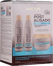Voňavky, Parfémy, kozmetika Sada - Kativa Straightening Post Treatment Keratin (shm/250ml + cond/250ml + mask/250ml)