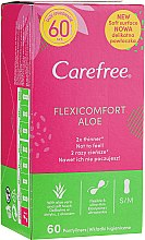 Voňavky, Parfémy, kozmetika Hygienické vložky, 60 ks - Carefree Flexi Comfort Aloe Extract
