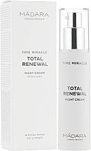 Voňavky, Parfémy, kozmetika Nočný krém na tvár - Madara Cosmetics Time Miracle Total Renewal