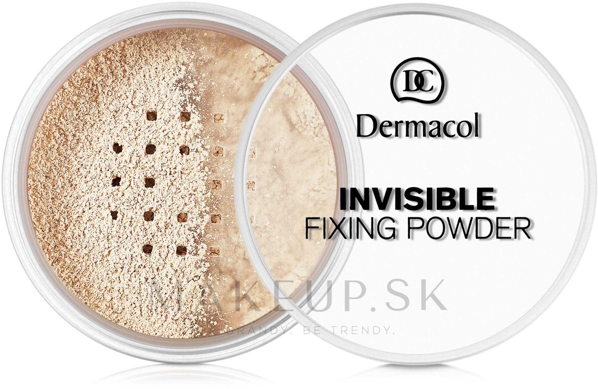 Priehľadný fixačný púder - Dermacol Invisible Fixing Powder — Obrázky 01 - Light