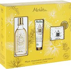 Voňavky, Parfémy, kozmetika Sada - Melvita L'Or Bio Set (soap/20g + oil/50ml + h/cr/30ml)