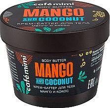 """Voňavky, Parfémy, kozmetika Telový krém-butter """"Mango a Kokos"""" - Cafe Mimi Body Butter Mango And Coconut"""