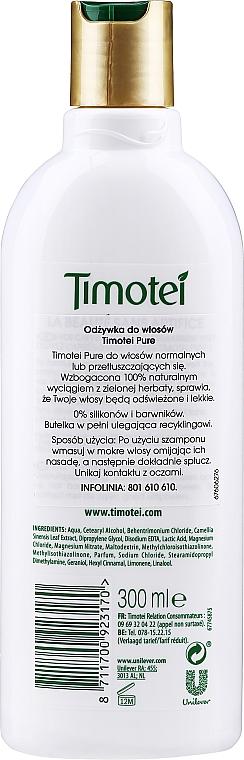 """Balzam na vlasy """"Mäkká starostlivosť"""" - Timotei Pure Conditioner — Obrázky N2"""