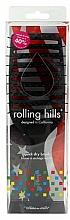 Kefa na rýchle vysušenie vlasov, čierna - Rolling Hills Hairbrushes Quick Dry Brush Black — Obrázky N1