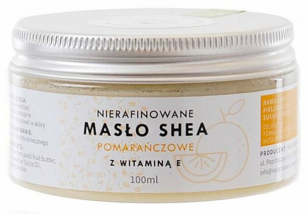 Bambucké maslo s vitamínom E, nerafinované - Natur Planet Orange Shea Butter Unrefined & Vitamin E