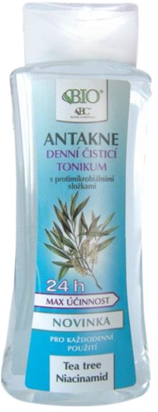 Pleťové tonikum - Bione Cosmetics Antakne Day Cleansing Tonic Tea Tree and Niacinamide