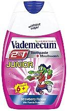 Voňavky, Parfémy, kozmetika Detská zubná pasta 2v1 s príchuťou jahod - Vademecum Junior 2in1 Toothpaste + Mouthwash