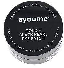 Voňavky, Parfémy, kozmetika Náplasti pod oči so zlatom a čiernymi perlami - Ayoume Gold + Black Pearl Eye Patch