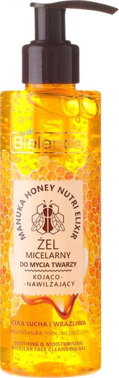 Upokojujúci hydratačný micelárny gél na čistenie tváre - Bielenda Manuka Honey Gel Micelar