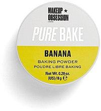 Voňavky, Parfémy, kozmetika Matný drobivý púder - Makeup Obsession Pure Bake Baking Powder Banana