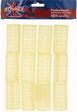 Voňavky, Parfémy, kozmetika Natáčky na suchý zips 32/63, žlté - Ronney Professional Velcro Roller