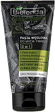 Voňavky, Parfémy, kozmetika Pasta na uhlie na umývanie 3 v 1 - Bielenda Carbo Detox Paste