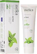 Voňavky, Parfémy, kozmetika Zubná pasta s mätovým extraktom - Melica Organic