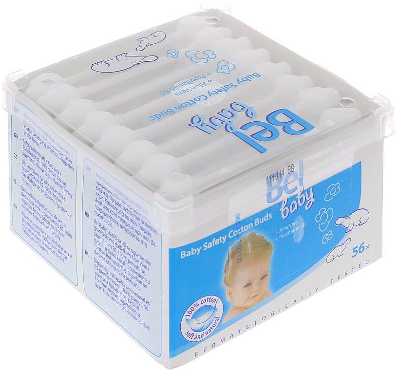 Detské vatové tyčinky, 56 ks - Bel Baby Safety Cotton Buds — Obrázky N1