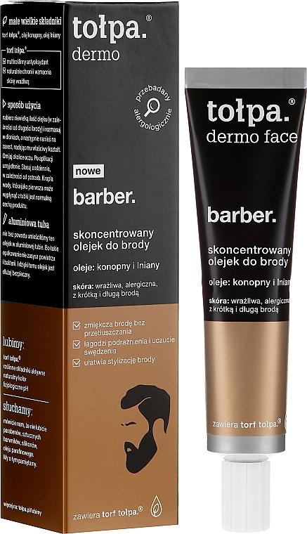 Koncentrovaný olej na bradu - Tolpa Dermo Men Barber Oil
