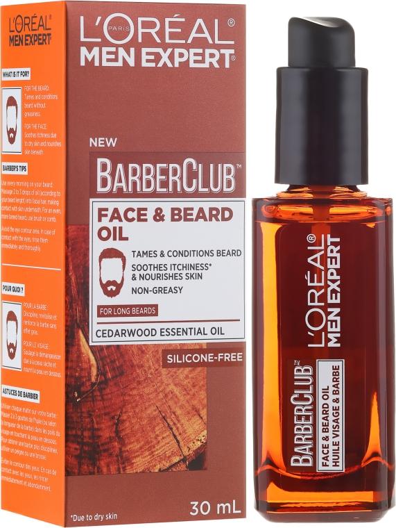 Olej a fúzy - L'Oreal Paris Men Expert Barber Club Long Beard + Skin Oil