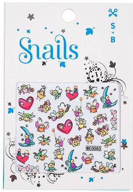 Nálepky na nechtový dizajn - Snails 3D Nail Stickers — Obrázky N1