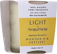 """Voňavky, Parfémy, kozmetika Vonná sviečka """"Mandarínka a vetiver"""" - AromaWorks Light Range Mandarin & Vetivert Candle"""
