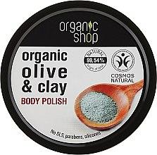 """Voňavky, Parfémy, kozmetika Telový scrub """"Modrá hlina"""" - Organic Shop Body Scrub Organic Olive & Clay"""
