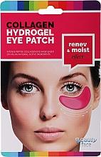 Voňavky, Parfémy, kozmetika Kolagénová maska pod oči s červeným vínom - Beauty Face Collagen Hydrogel Eye Mask
