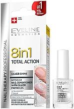 Voňavky, Parfémy, kozmetika Prostriedok na obnovenie nechtov 8v1 - Eveline Cosmetics 8in1 Silver Shine Nail Therapy