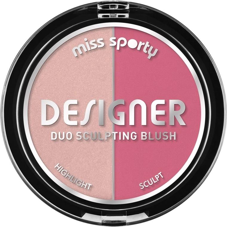 Lícenka na tvarovanie lícnych kostí - Miss Sporty Draping Designer Duo Sculpting Blush — Obrázky N1