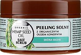Voňavky, Parfémy, kozmetika Soľný telový peeling s organickým konopným olejom - GlySkinCare Hemp Seed Oil Salt Scrub