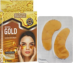 Voňavky, Parfémy, kozmetika Gélové náplasti pod oči - Beauty Formulas Reviving Gold Eye Gel Patches