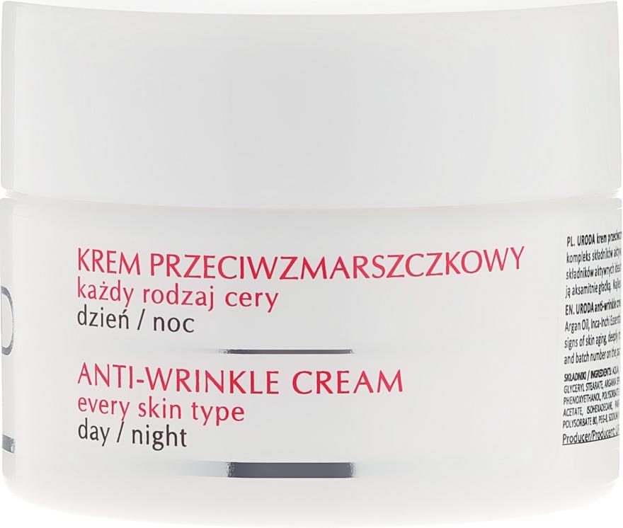 Krém proti vráskam pre všetky typy pleti - Uroda Anti-Wrinkles Face Cream For All Skin Day Night