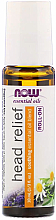 Voňavky, Parfémy, kozmetika Olej na bolesti hlavy, guľôčkový aplikátor - Now Foods Essential Oils Head Relief Roll-On