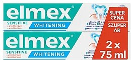 Voňavky, Parfémy, kozmetika Sada - Elmex Professional Sensitive Whitening Teeth (toothpaste/2x75ml)