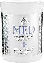 Voňavky, Parfémy, kozmetika Maska na hĺbkovú regeneráciu - Kallos Cosmetics MED Deep Repair Hair Mask