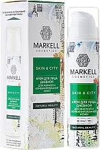 """Voňavky, Parfémy, kozmetika Krém na tvár denný """"Snehová huba"""" pre mastnú a kombinovanú pleť - Markell Cosmetics Skin&City Face Cream"""
