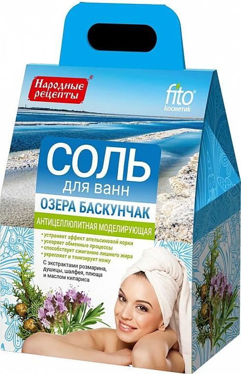 "Soľ do kúpeľa ""Jazerá Baskunčak"" proti celutíde - FitoKosmetik Anti-Cellulite Bath Salt Baskunchak Lake"