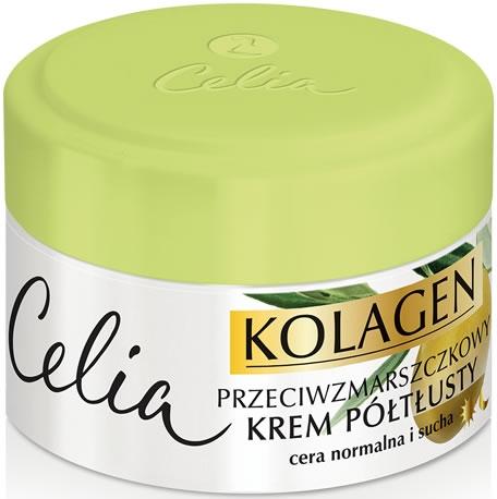 Krém obohatený od vrások pre normálnu a suchú pleť - Celia Collagen Cream