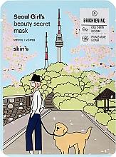 Voňavky, Parfémy, kozmetika Látková maska na tvár rozjasňujúca - Skin79 Seoul Girl's Beauty Secret Mask Brightening