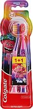 """Voňavky, Parfémy, kozmetika Detská zubná kefka """"Smiles"""", 2-6 rokov, fialovo-ružová, extra mäkká - Colgate Smiles Kids"""