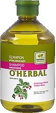 Voňavky, Parfémy, kozmetika Vyhladzujúci šampón s malinovým výťažkom pre lesk vlasov - O'Herbal Smoothing Shampoo