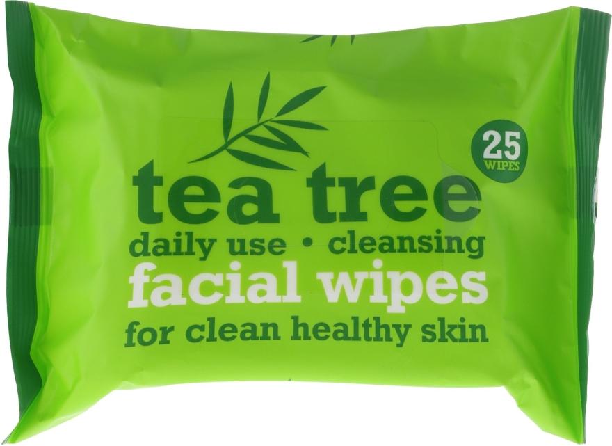 Čistiace uiterky na tvár 25 ks - Xpel Marketing Ltd Tea Tree Facial Wipes For Clean Healthy Skin