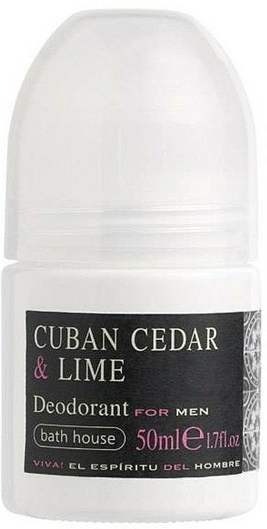 Bath House Cuban Cedar & Lime - Roll-on dezodorant
