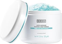 Voňavky, Parfémy, kozmetika Tonizujúci a protiúnavový soľný scrub na telo - Pupa Home Spa Anti-Fatigue Toning Salt Scrub