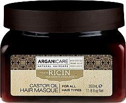 Voňavky, Parfémy, kozmetika Maska na rast vlasov - Arganicare Castor Oil Hair Masque